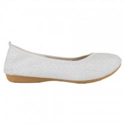 Bernie Mev Vienna Iridescent Pearl Foldable Ballet Flats